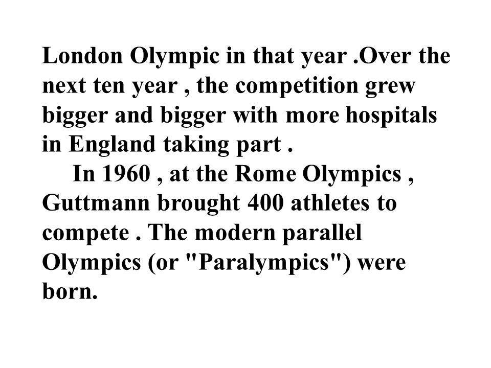 London Olympic in that year