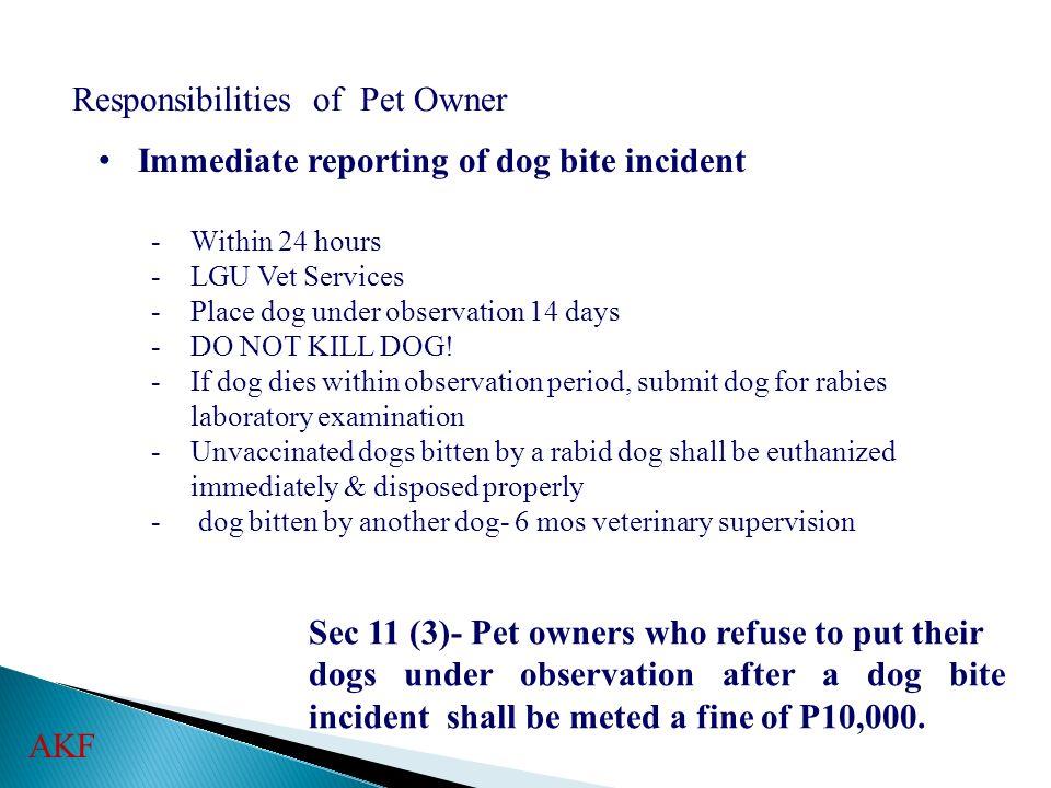 Responsibilities of Pet Owner
