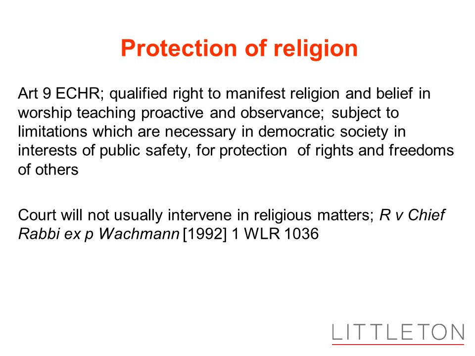 Protection of religion