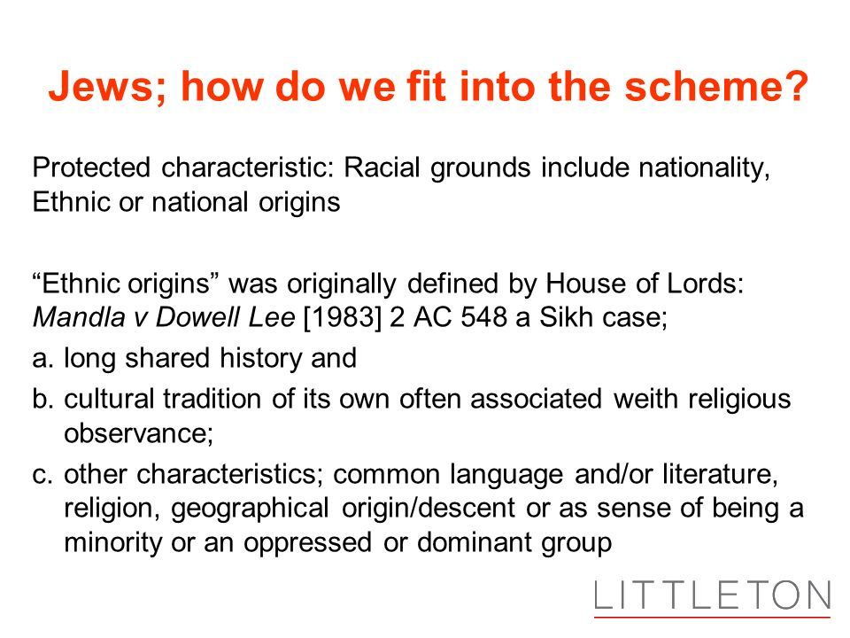 Jews; how do we fit into the scheme