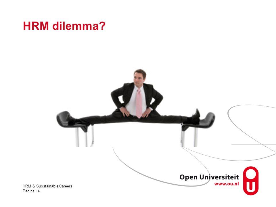 HRM dilemma HRM & Substainable Careers