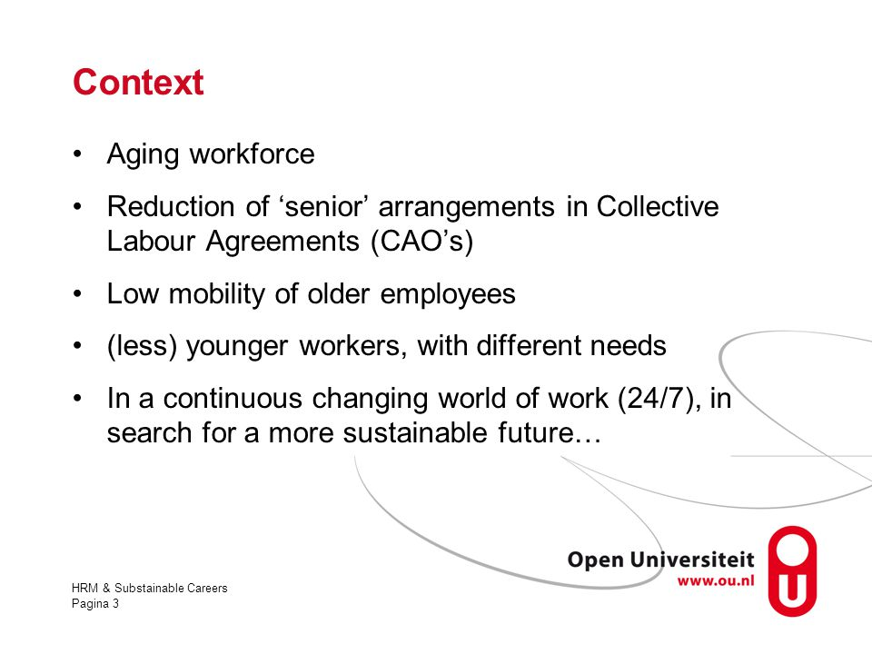 Context Aging workforce