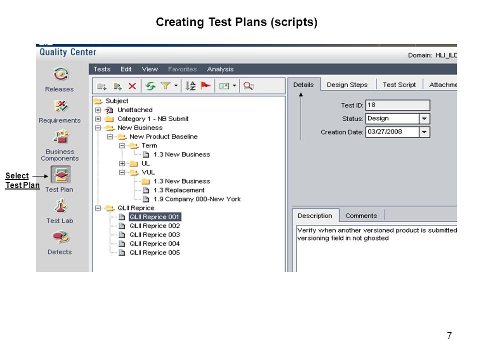Creating Test Plans (scripts)