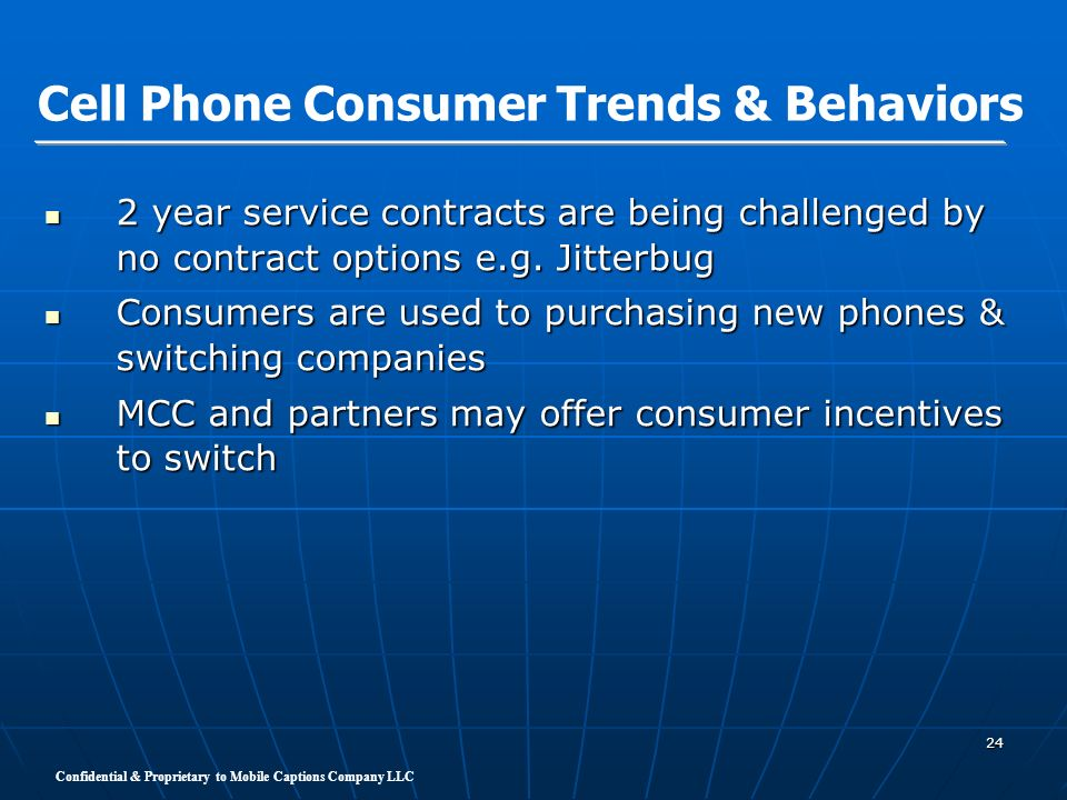 Cell Phone Consumer Trends & Behaviors