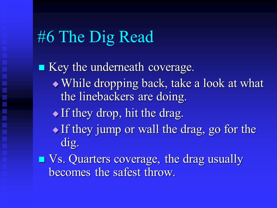 #6 The Dig Read Key the underneath coverage.