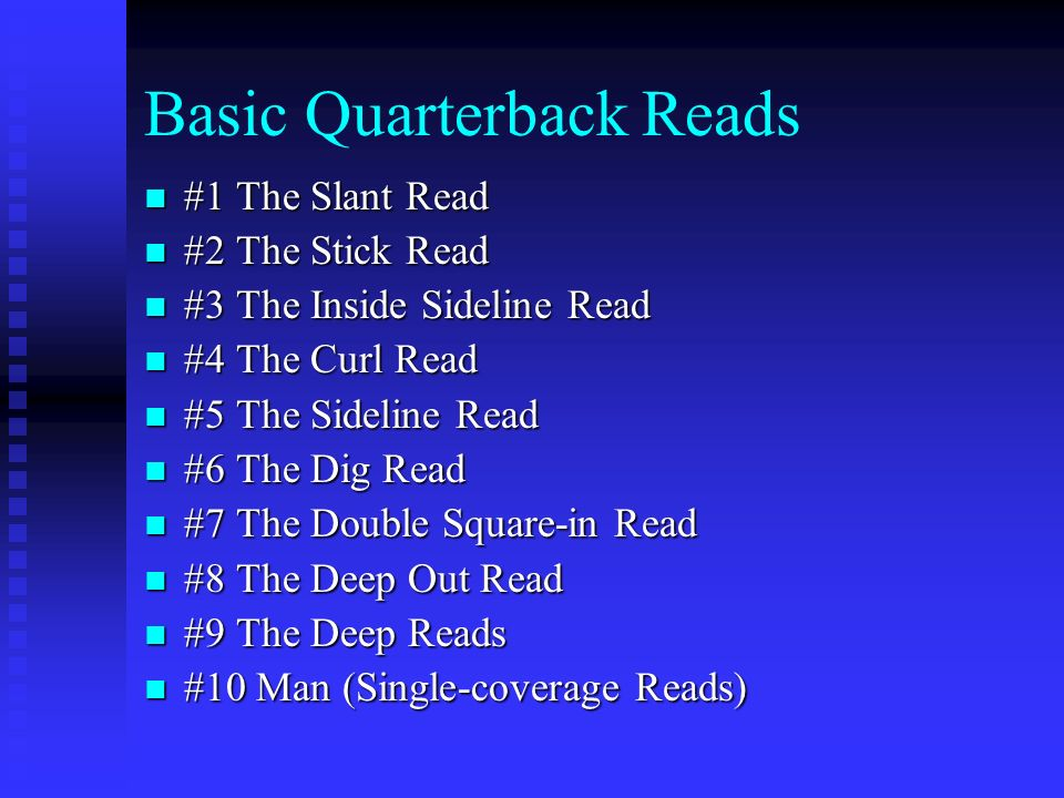 Basic Quarterback Reads