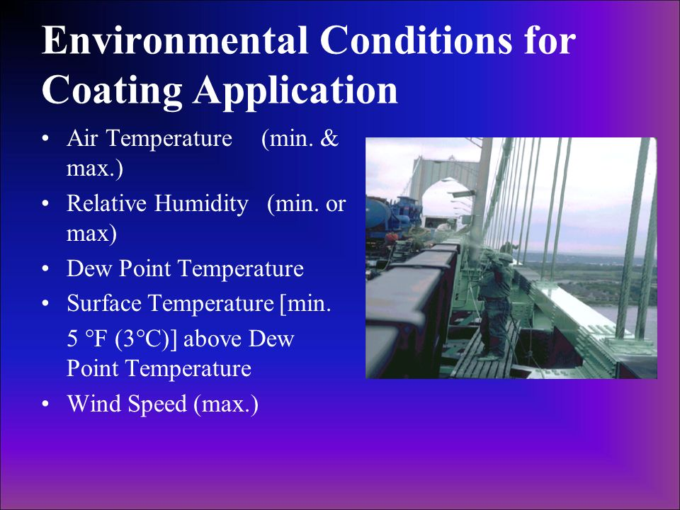 Environmental Conditions for Coating Application