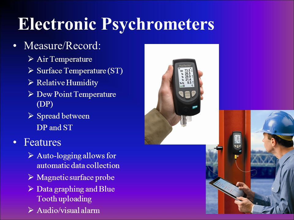Electronic Psychrometers