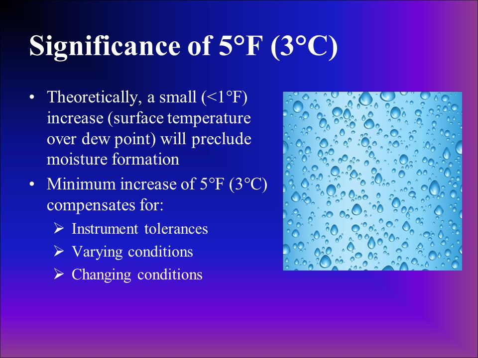Significance of 5°F (3°C)