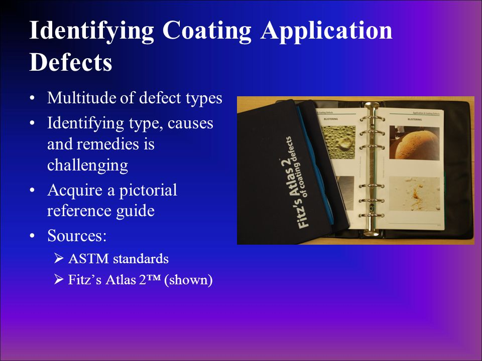 Identifying Coating Application Defects