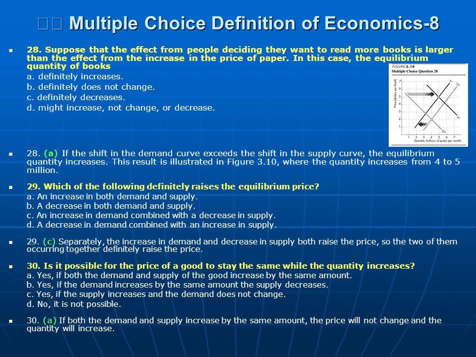  Multiple Choice Definition of Economics-8