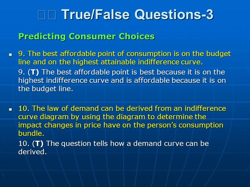  True/False Questions-3