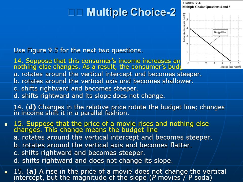 􀂄 Multiple Choice-2 Use Figure 9.5 for the next two questions.