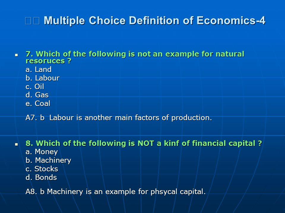 Multiple Choice Definition of Economics-4