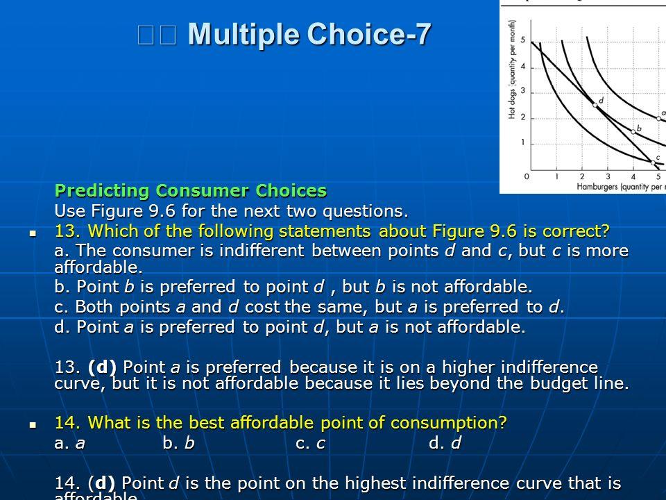  Multiple Choice-7 Predicting Consumer Choices