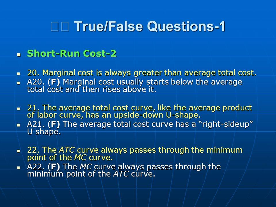  True/False Questions-1