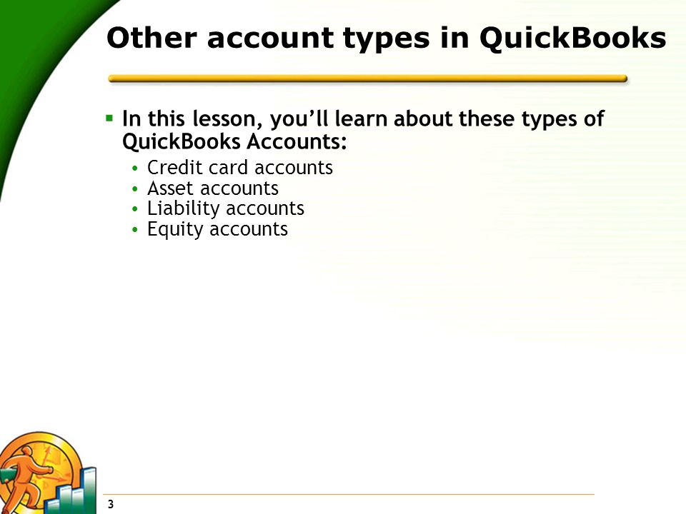 Other account types in QuickBooks