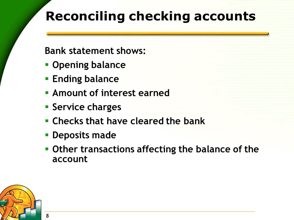 Reconciling checking accounts