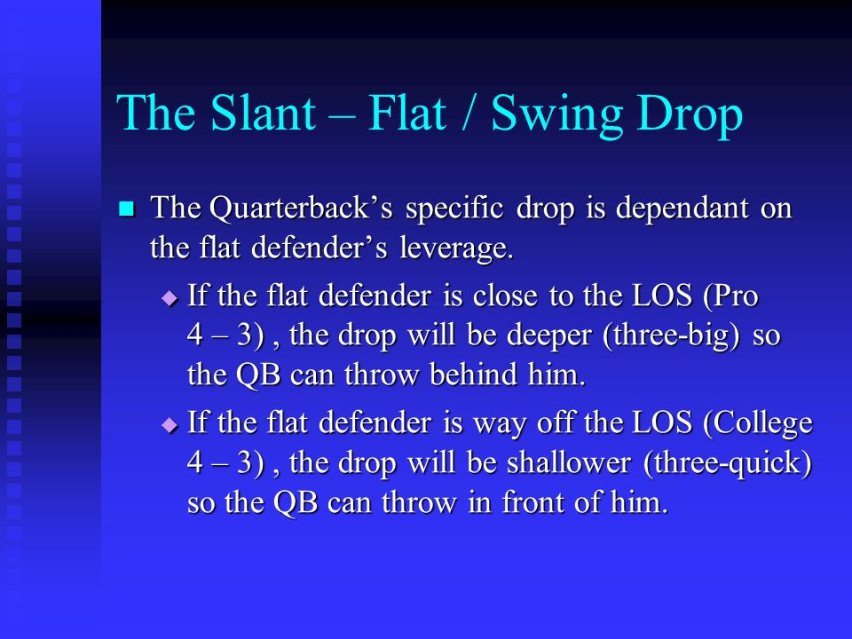 The Slant – Flat / Swing Drop