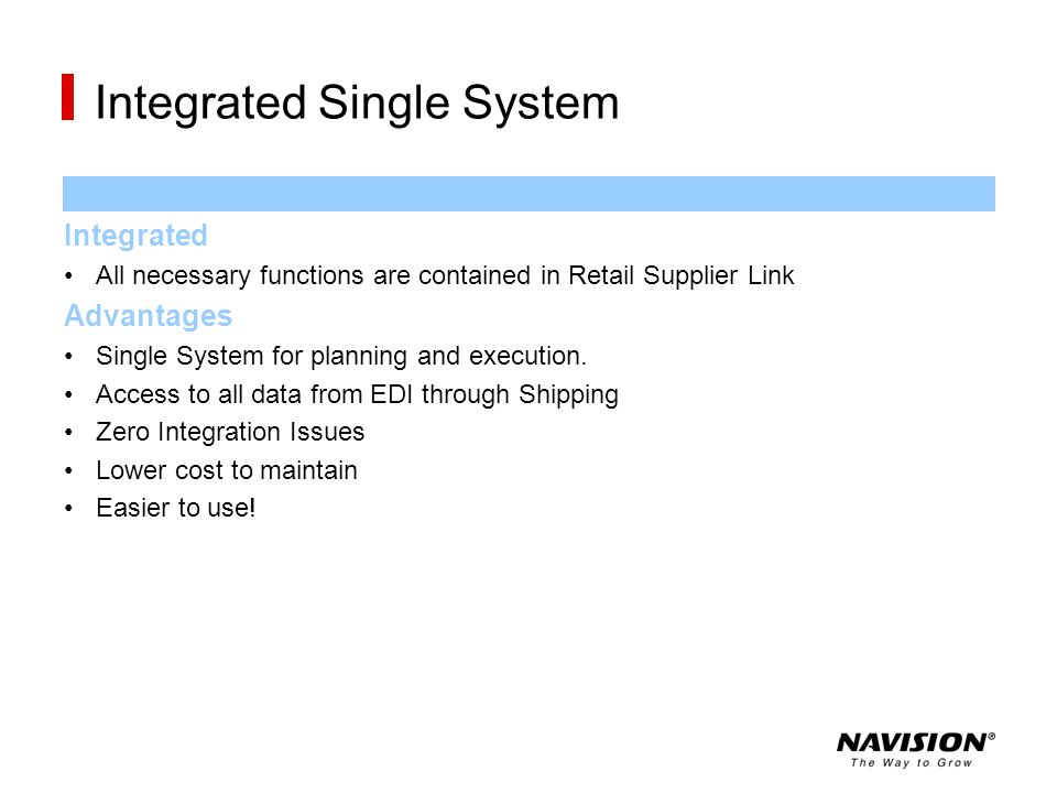 Integrated Single System