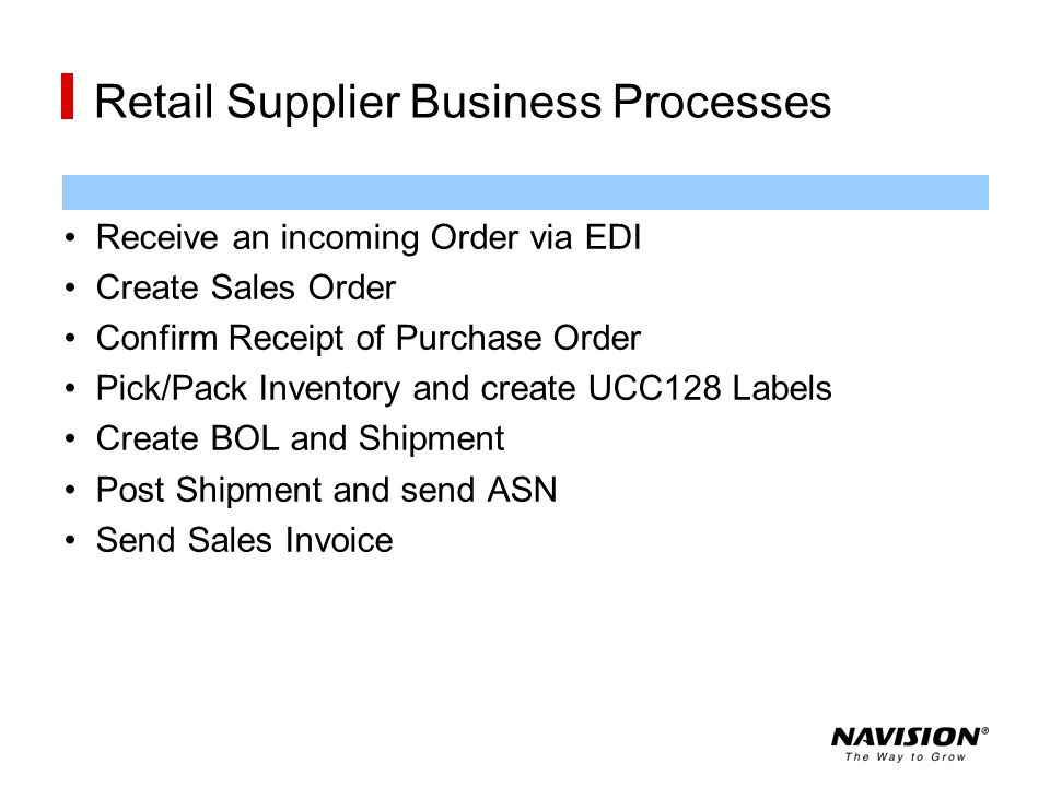 Retail Supplier Business Processes