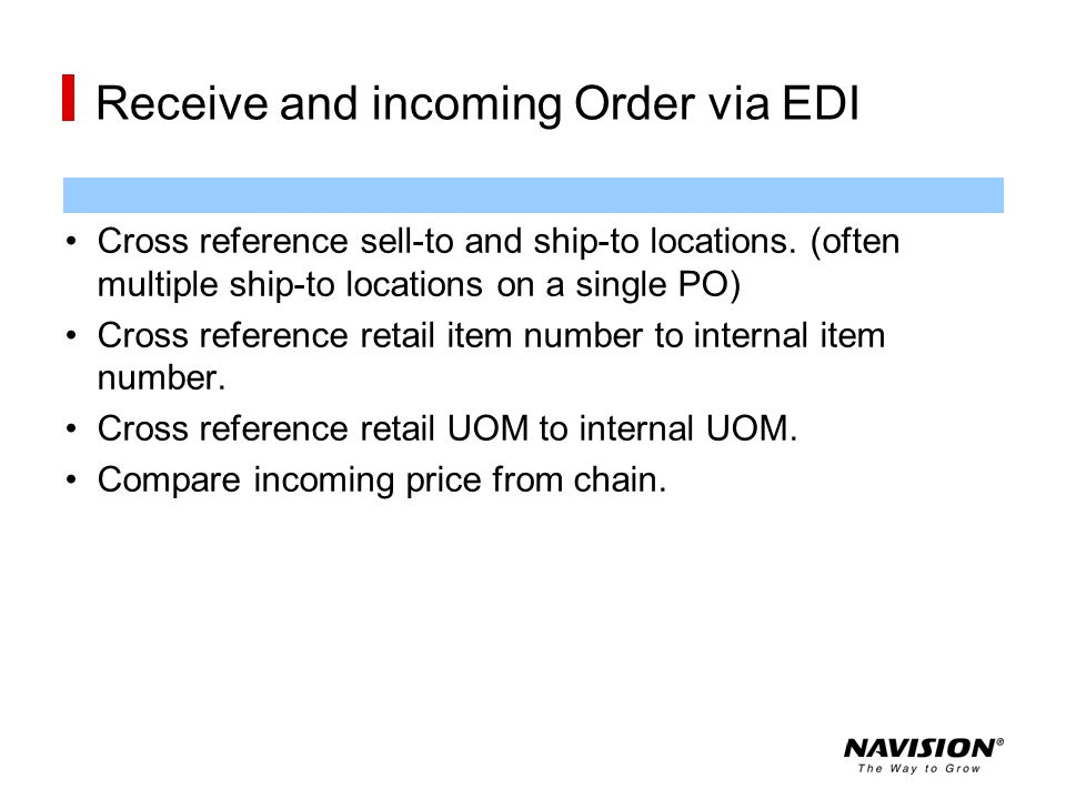 Receive and incoming Order via EDI