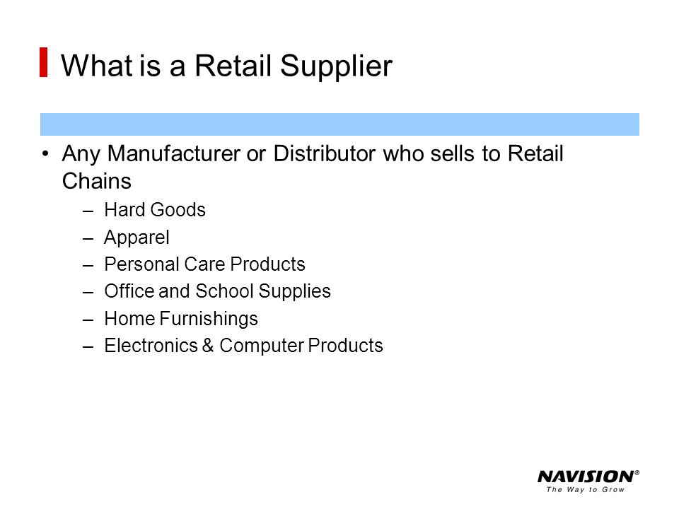 What is a Retail Supplier