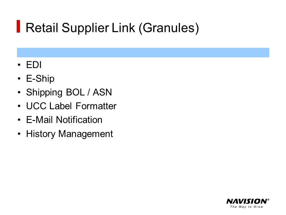 Retail Supplier Link (Granules)