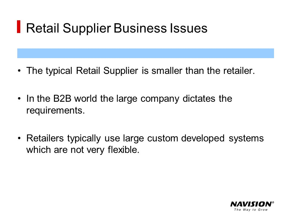 Retail Supplier Business Issues