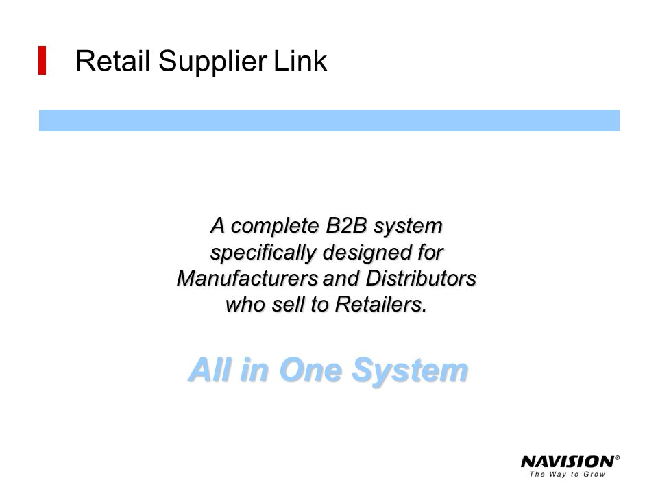 All in One System Retail Supplier Link A complete B2B system