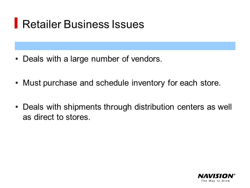 Retailer Business Issues