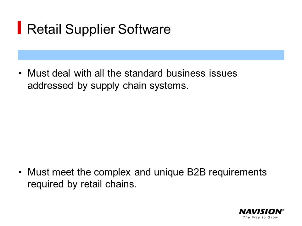 Retail Supplier Software
