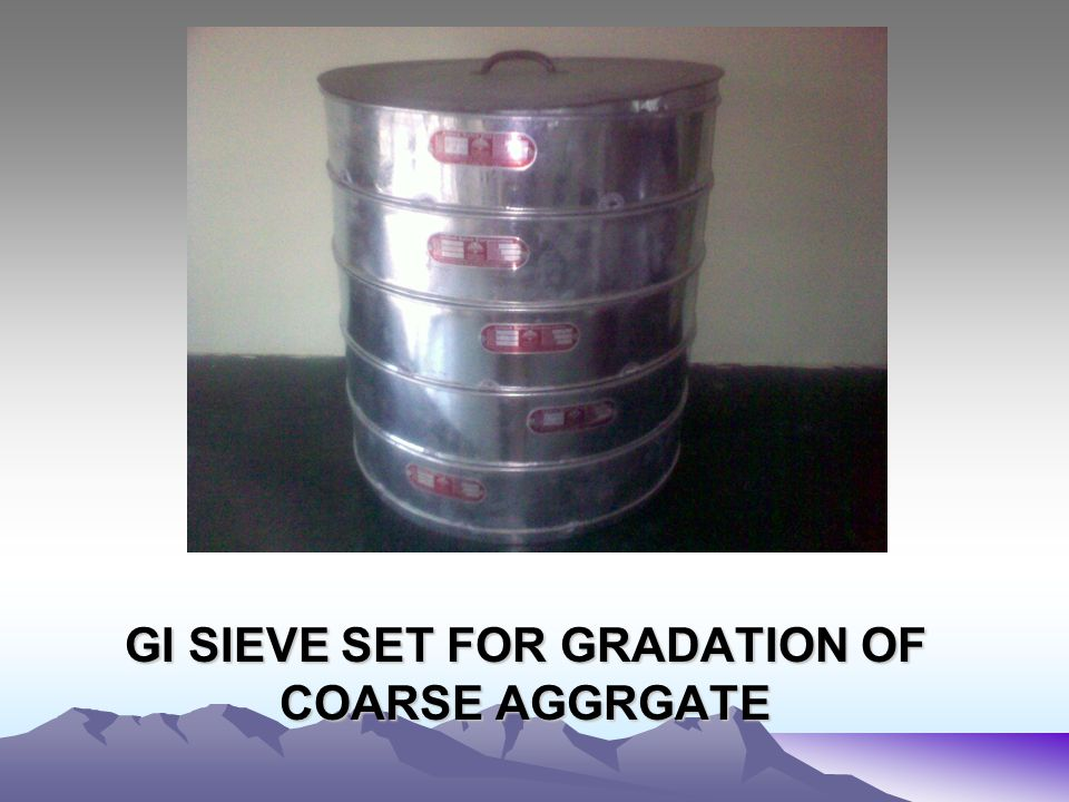 GI SIEVE SET FOR GRADATION OF COARSE AGGRGATE