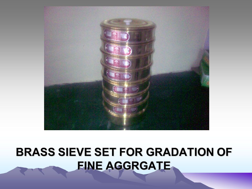 BRASS SIEVE SET FOR GRADATION OF FINE AGGRGATE