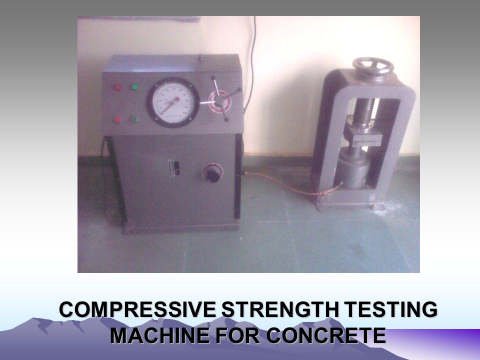 COMPRESSIVE STRENGTH TESTING MACHINE FOR CONCRETE