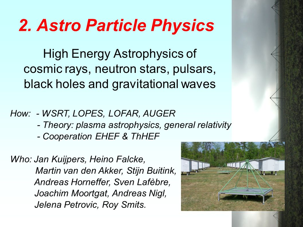 2. Astro Particle Physics