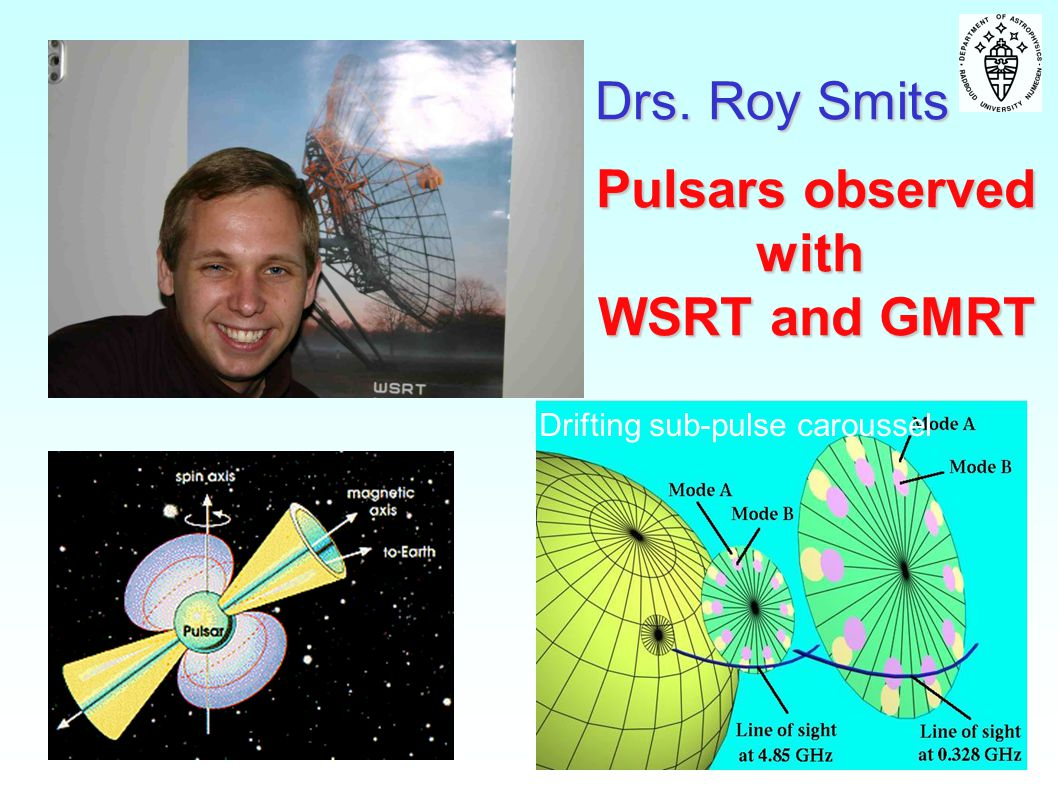Pulsars observed with WSRT and GMRT