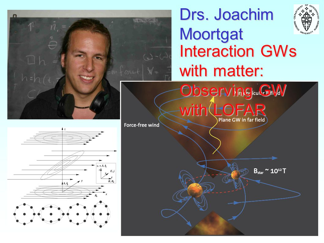 Drs. Joachim Moortgat Interaction GWs with matter: Observing GW with LOFAR