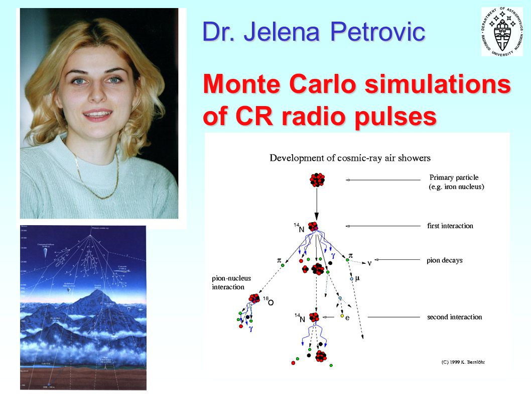 Dr. Jelena Petrovic Monte Carlo simulations of CR radio pulses