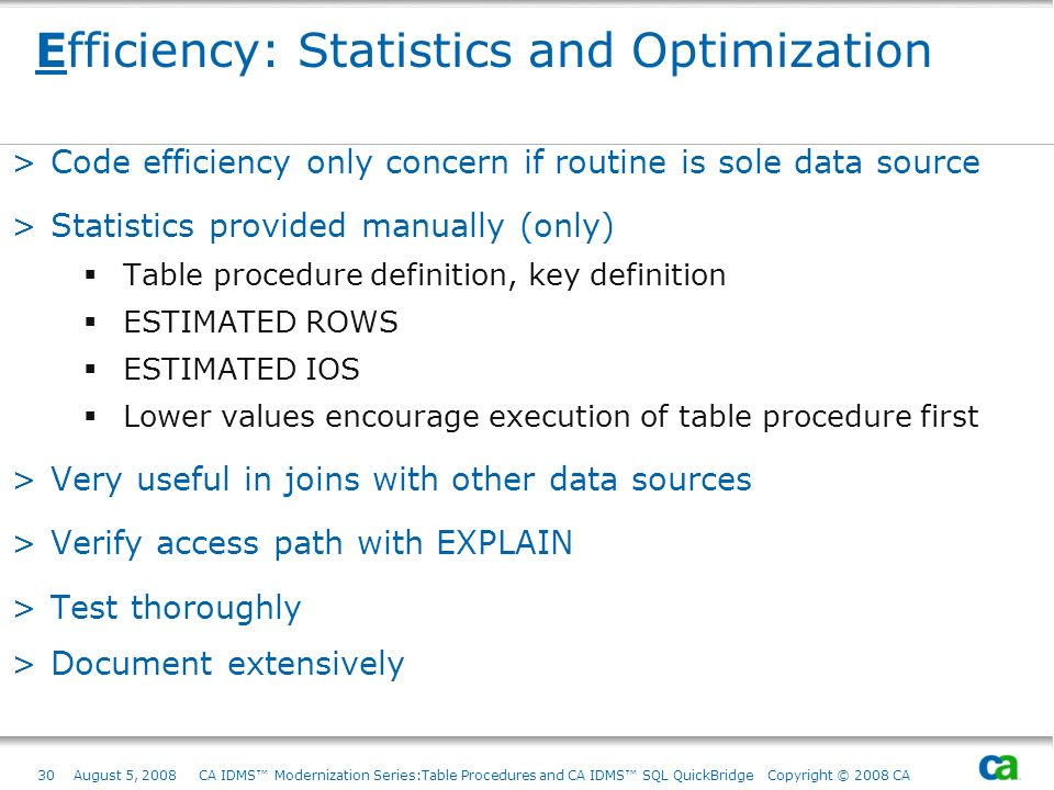 Efficiency: Statistics and Optimization