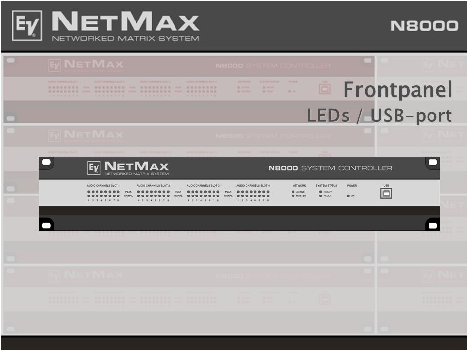 Frontpanel LEDs / USB-port