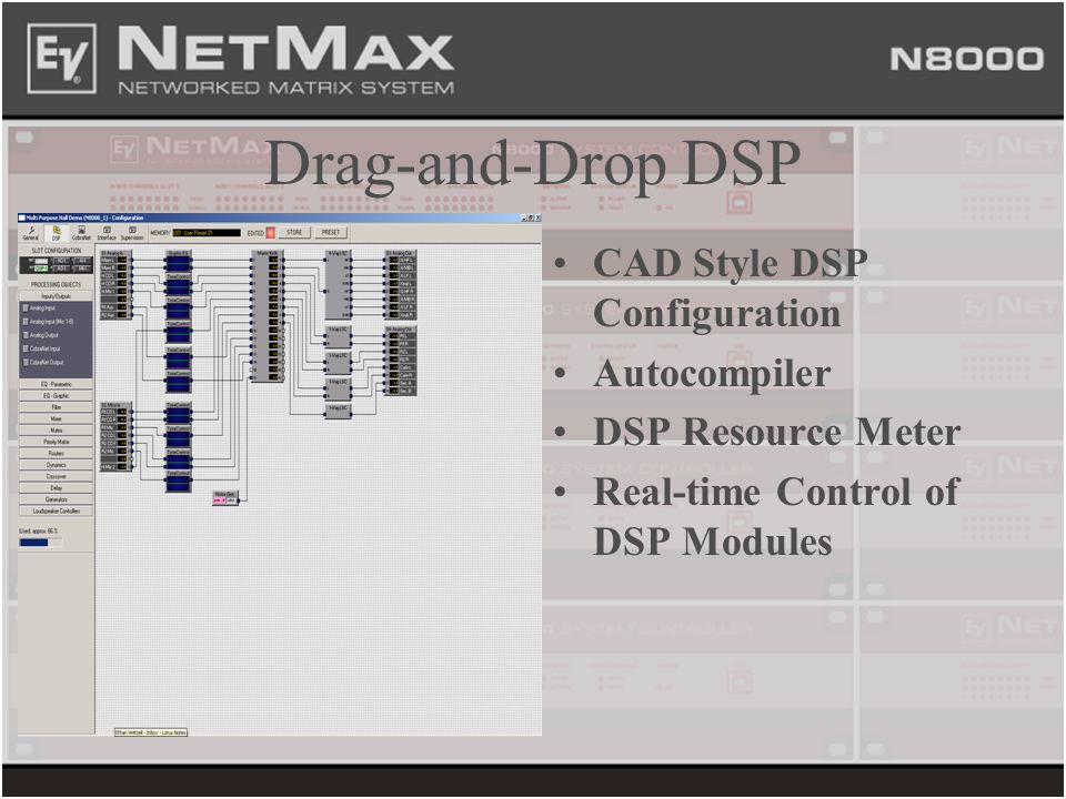 Drag-and-Drop DSP CAD Style DSP Configuration Autocompiler