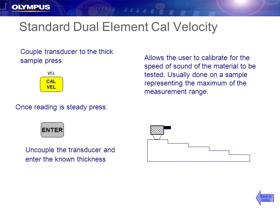 Standard Dual Element Cal Velocity