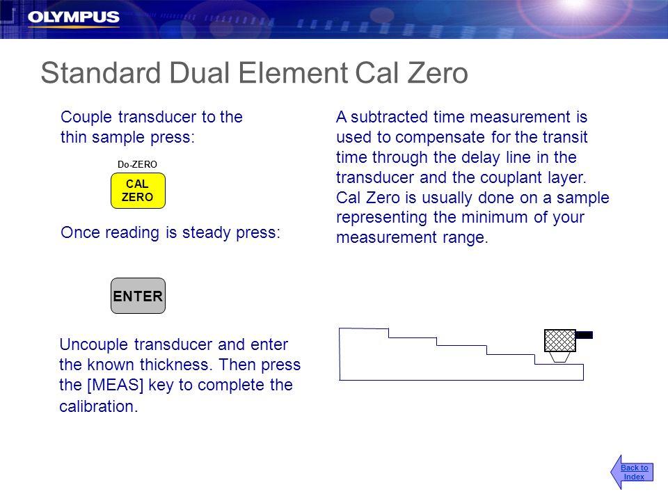Standard Dual Element Cal Zero