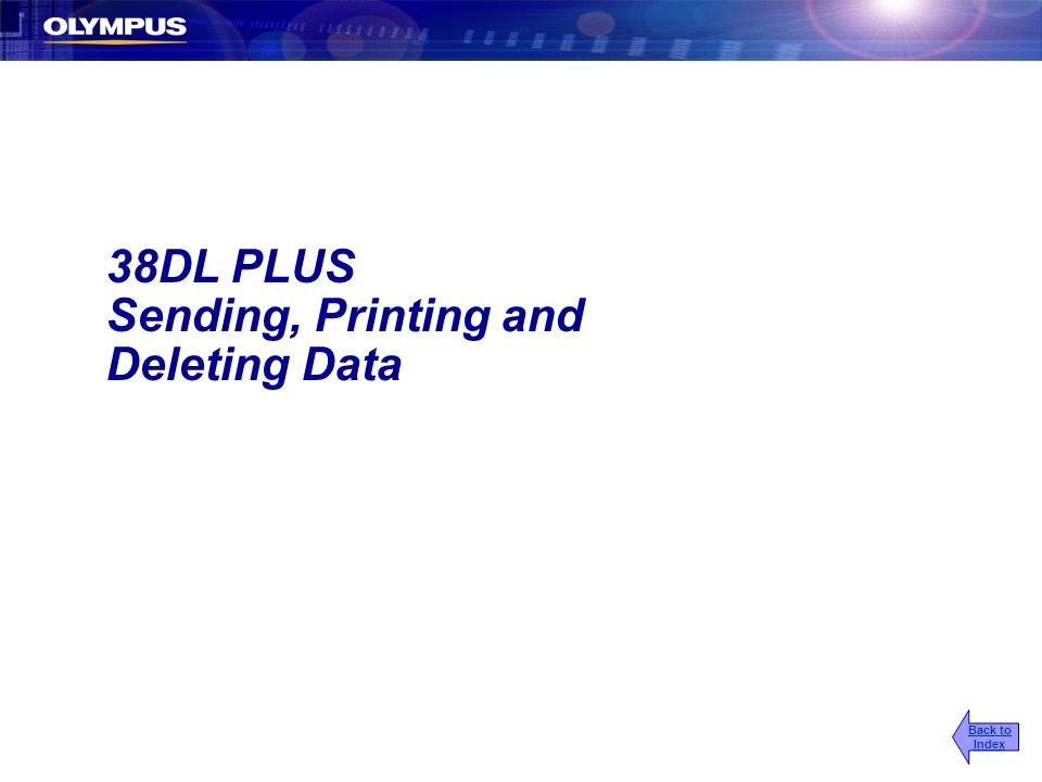 Sending, Printing and Deleting Data