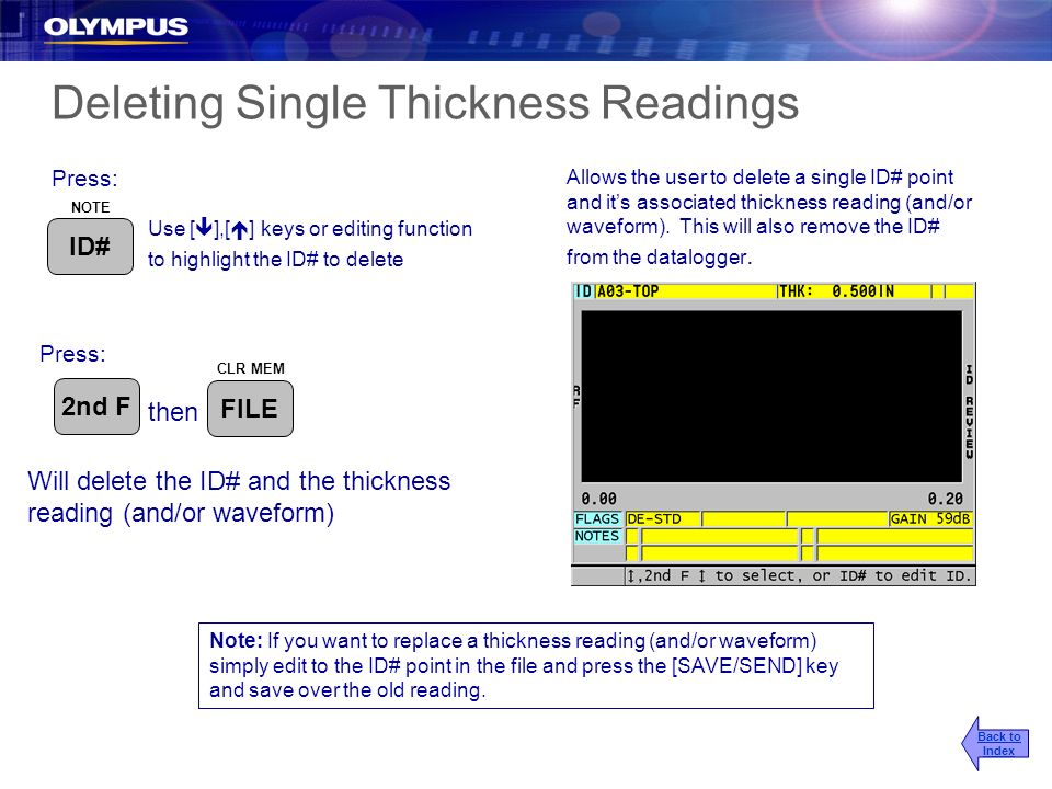 Deleting Single Thickness Readings