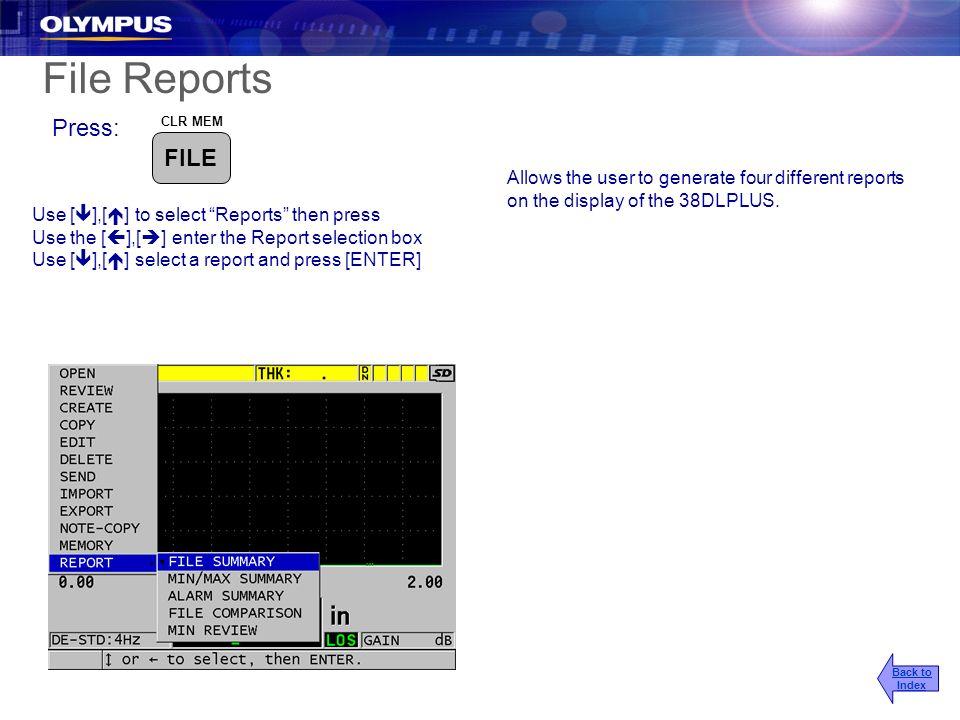 File Reports Press: FILE