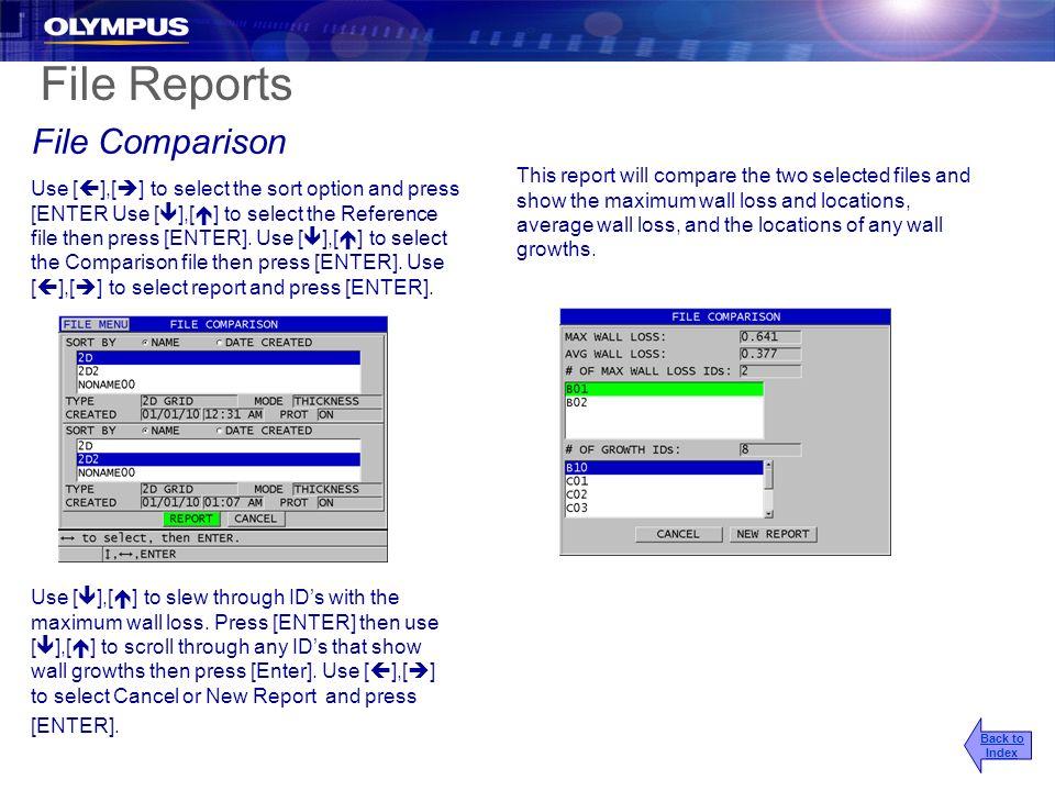 File Reports File Comparison
