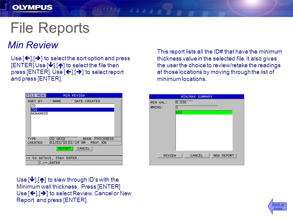 File Reports Min Review