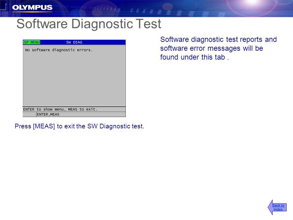 Software Diagnostic Test